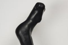 De Duiker, Brons, zwart gepatineerd en deels blank gepolijst brons, 66 cm