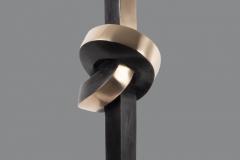 Stroming 1, Brons, zwart gepatineerd en deels blank gepolijst, 64 cm